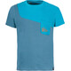 La Sportiva Climbique Shortsleeve Shirt Men blue/teal